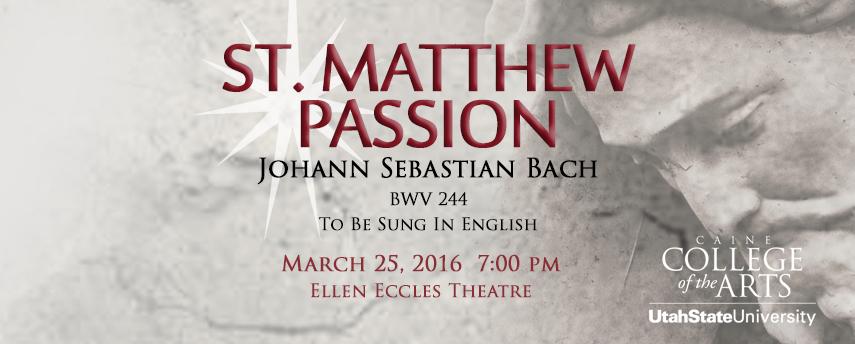 Banner: St Matthew Passion - Johann Seabastian Bach
